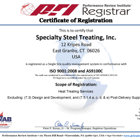 ISO 9001: and AS9100C Certification