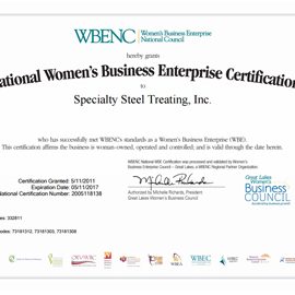 2017- WBENC Certificate