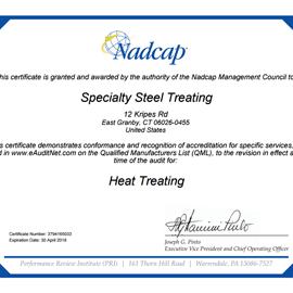 NADCAP Heat Treating Certification